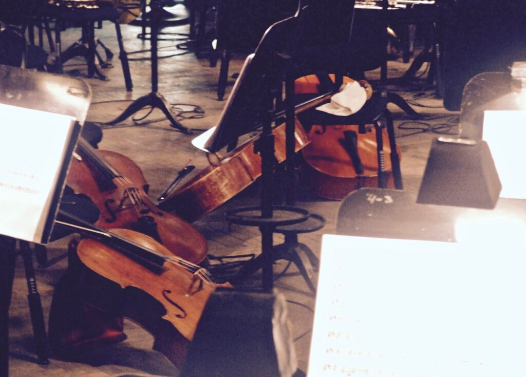 Cellos in the Orchestra Pit