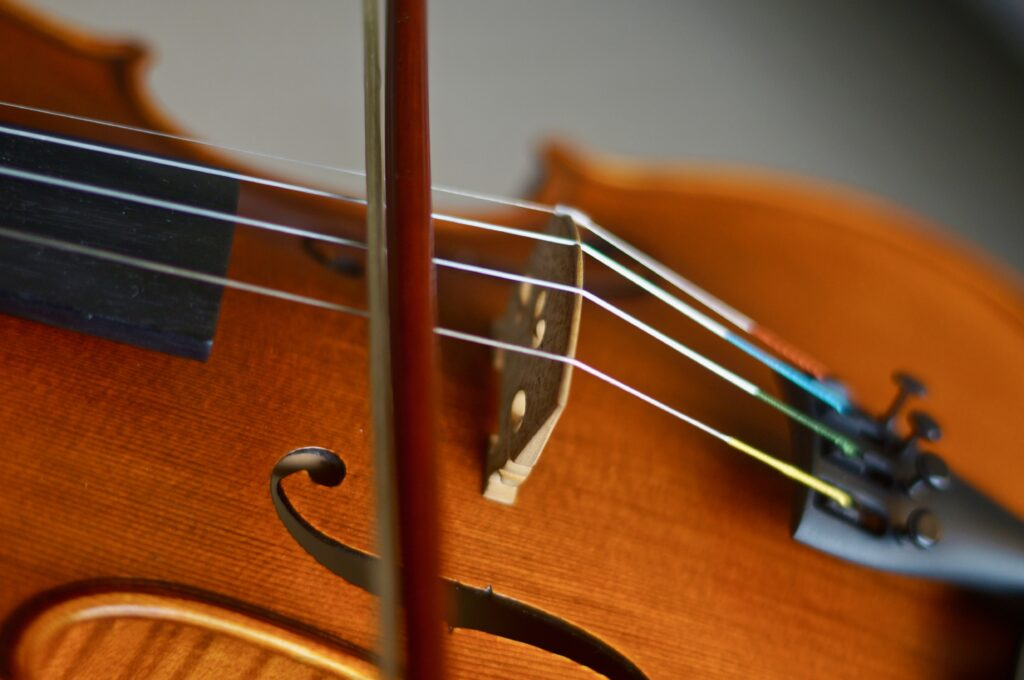 Orchestrator playing the violin