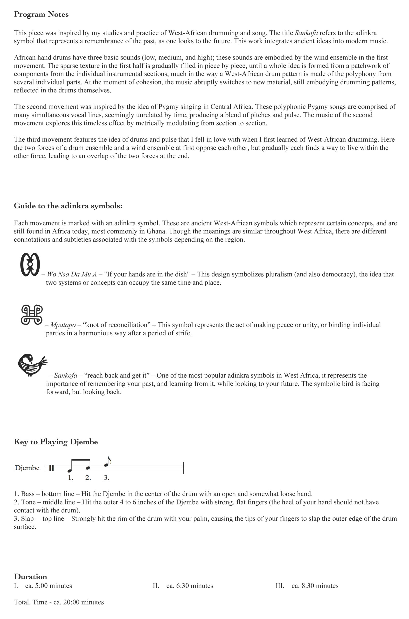 Sankofa Program Notes page 1
